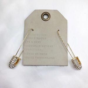 NWT Anthro BaubleBar Crystal Pin Earrings